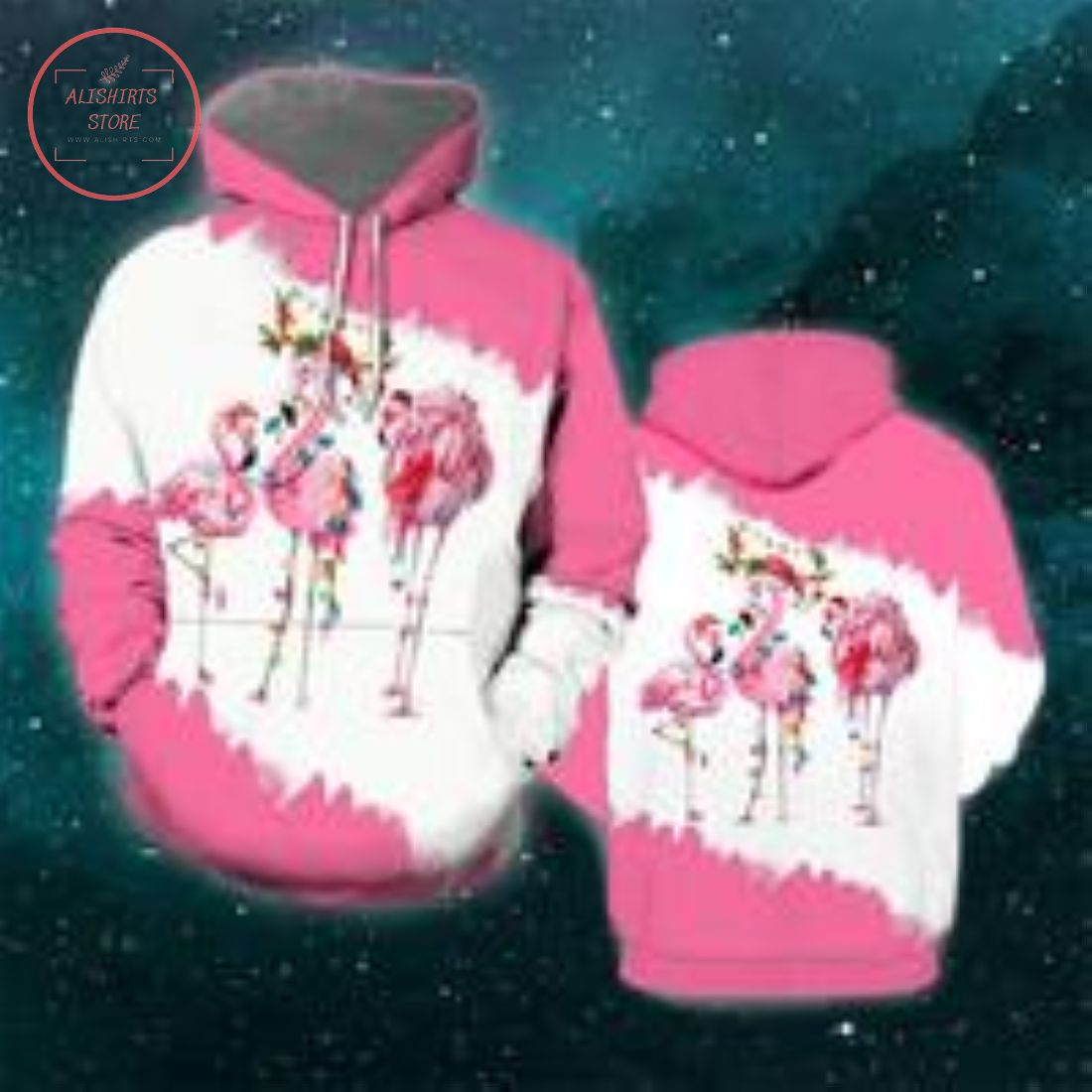 Christmas Flamingo 3D Hoodie