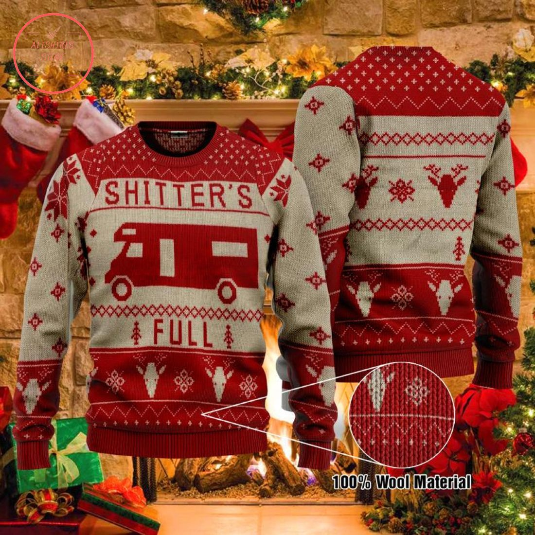 Christmas Vacation Shitter's Full Movie Ugly Christmas Sweater