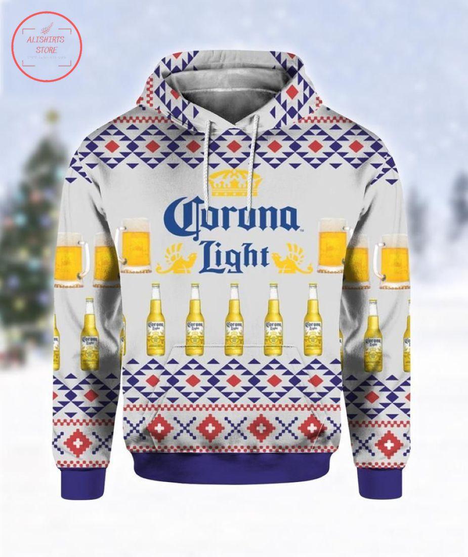 Corona Light Beer Ugly Christmas Hoodie 3d