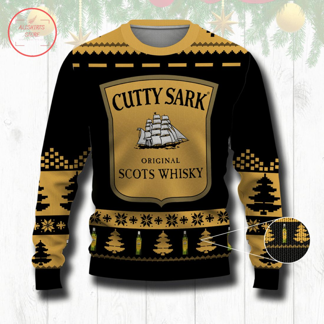 Cutty Sark Whisky Ugly Christmas Sweater