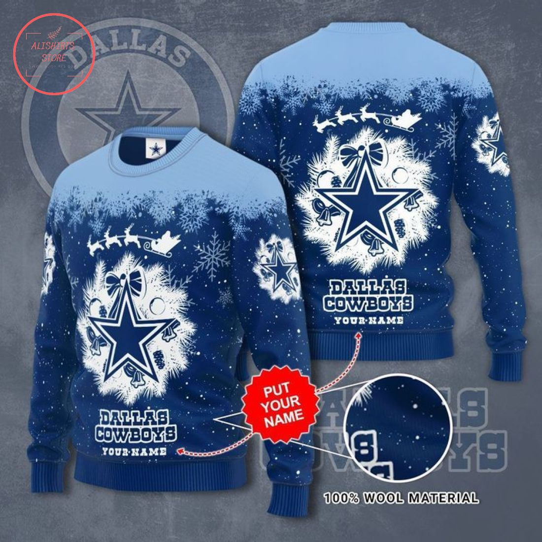 Dallas Cowboys Personalized Ugly Christmas Sweater