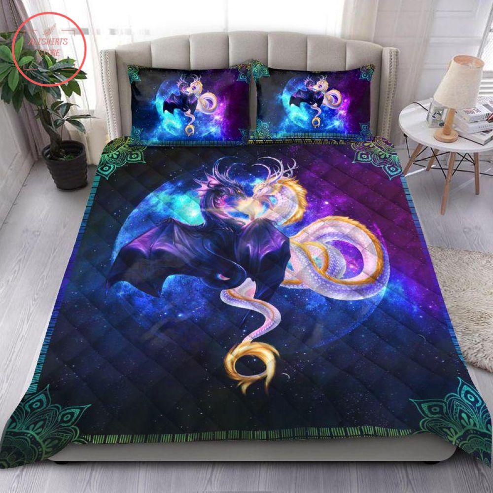 Dragon Galaxy Couple Bedding Set