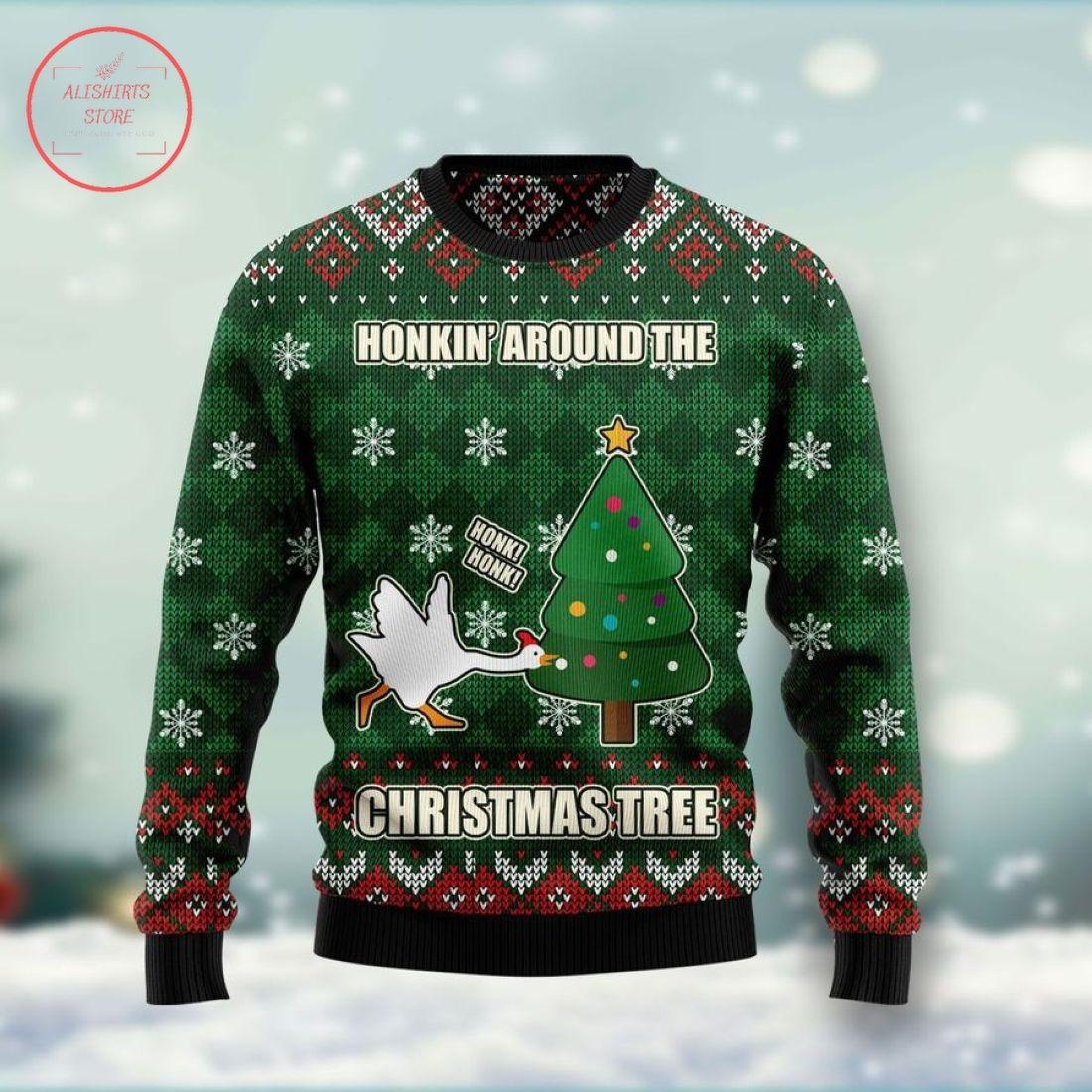 Duck Honkin Around Christmas Ugly Christmas Sweater