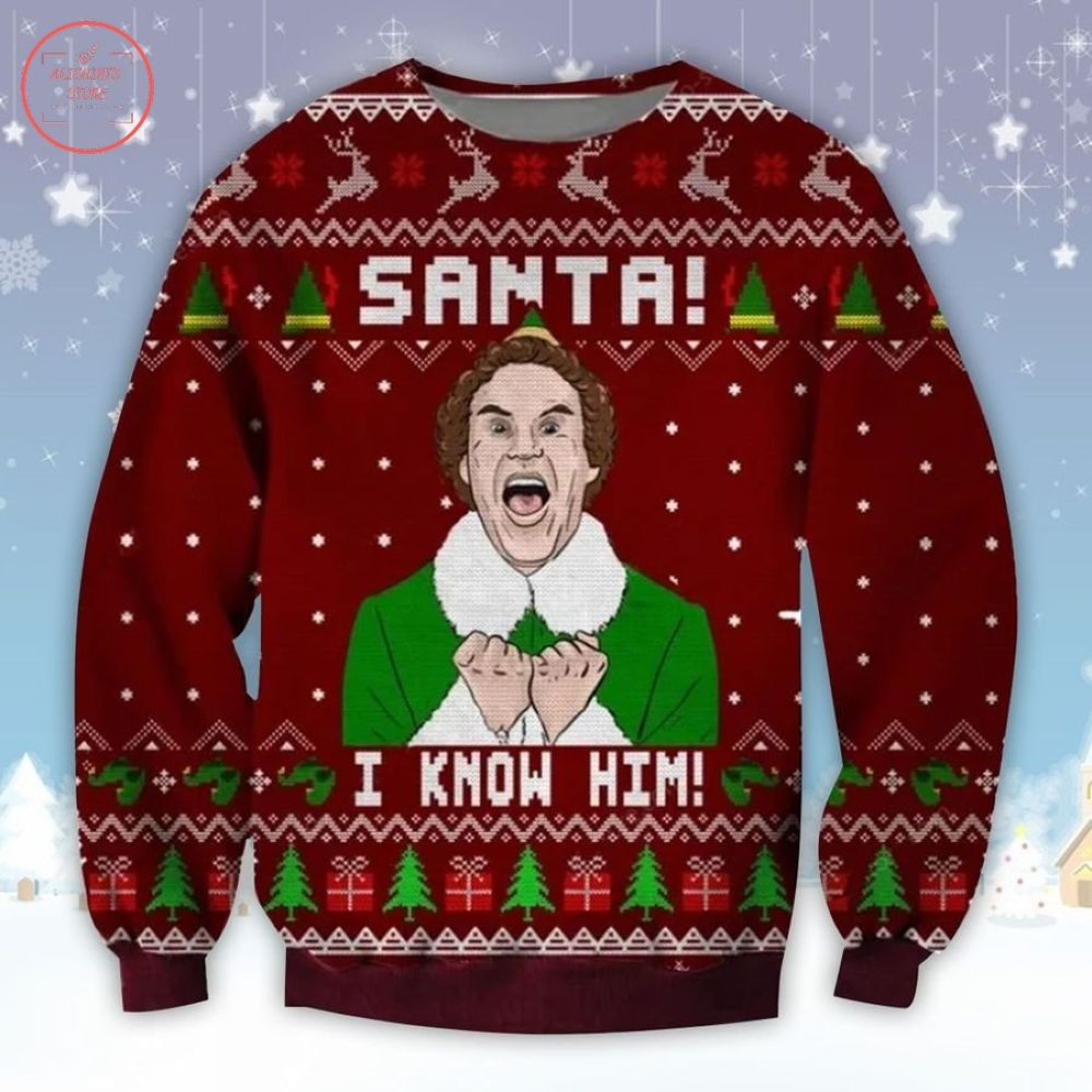 Elf Rotten Tomatoes Ugly Christmas Sweater