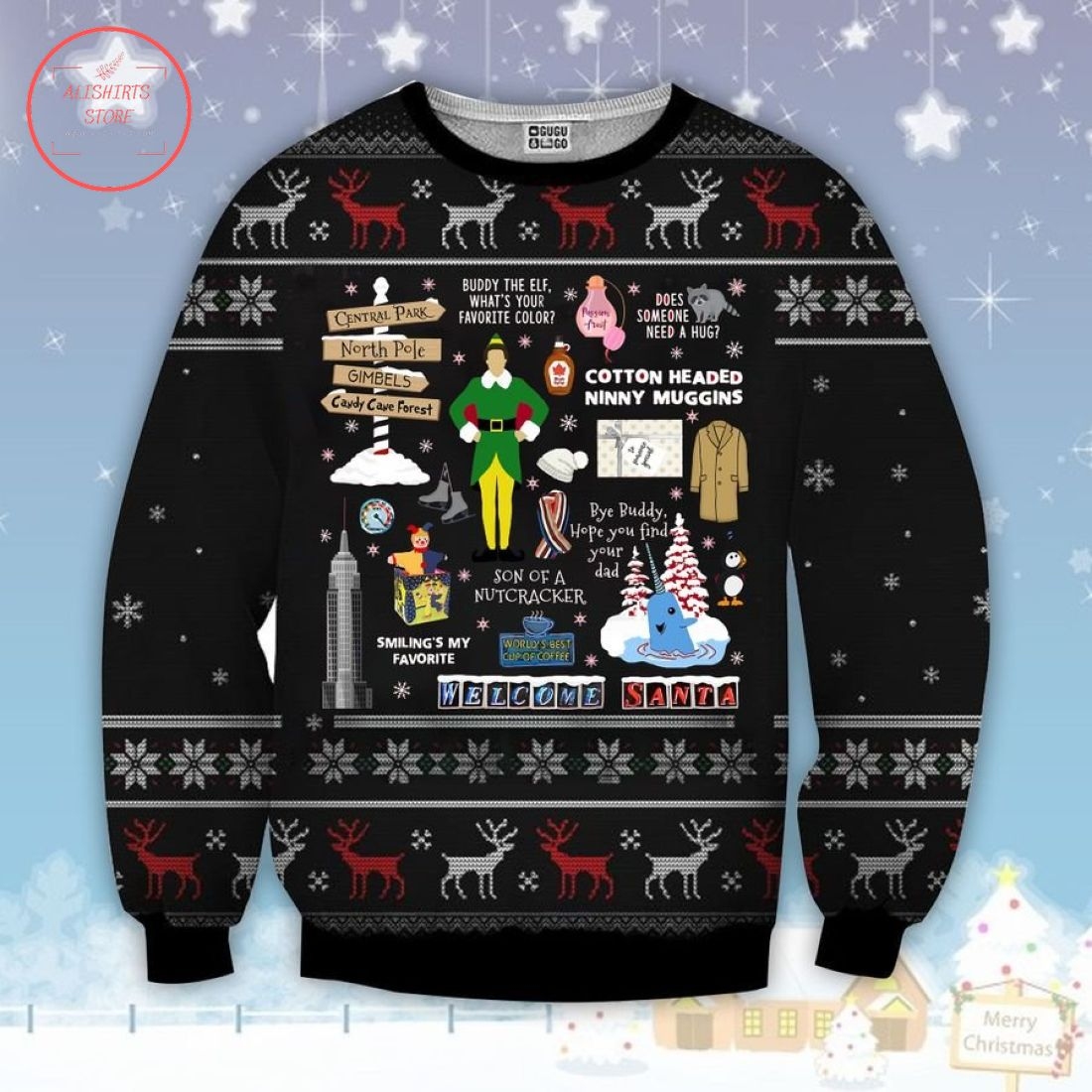 Elf Xmas Ugly Christmas Sweater