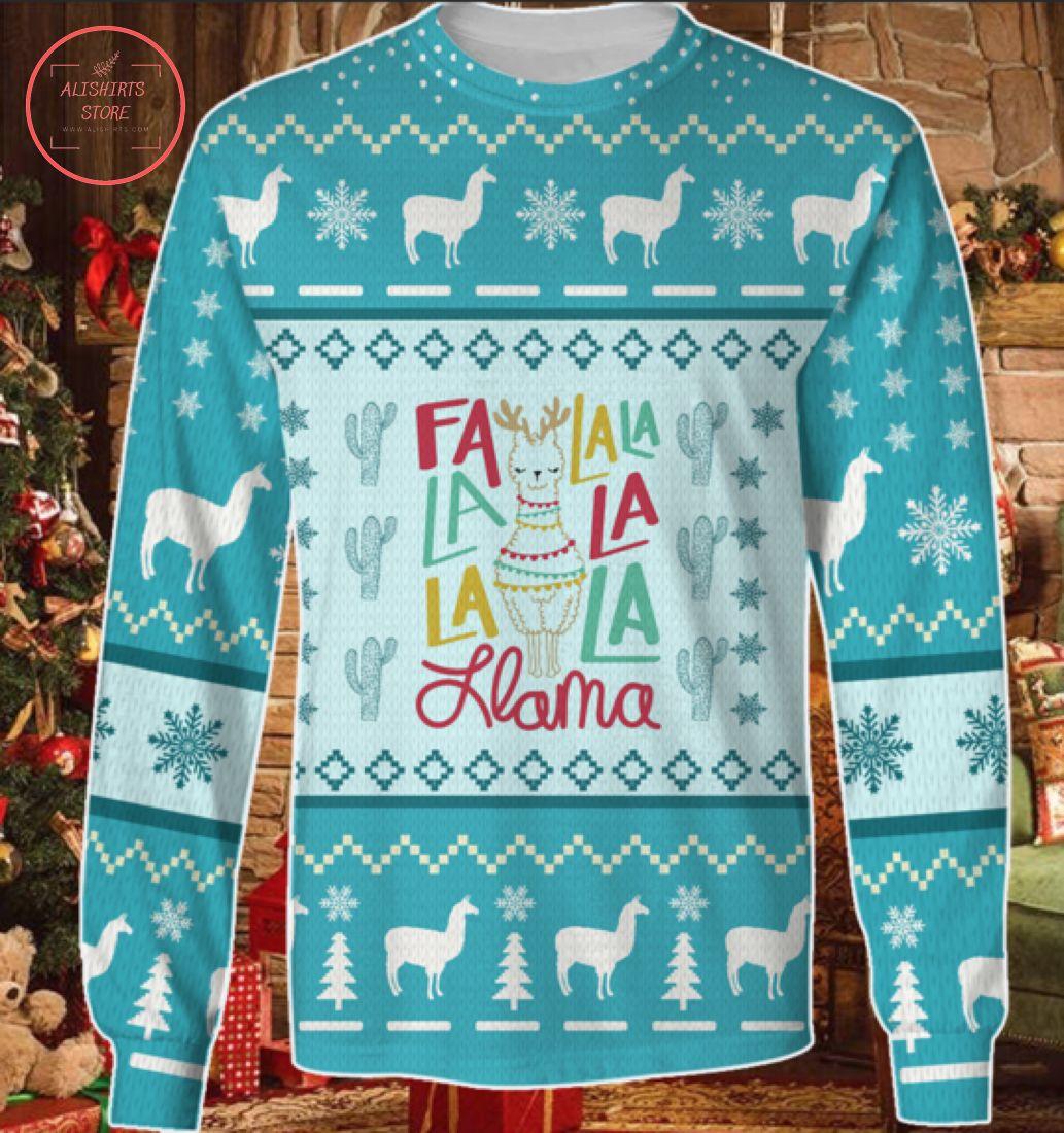 FLa La La La La La La Llama Awesome Ugly Christmas Sweater