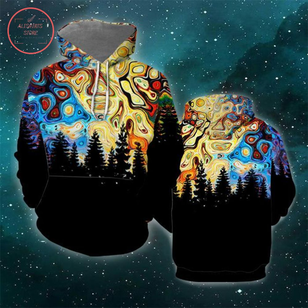 Forest Galaxy 3D All Over Print Hoodie