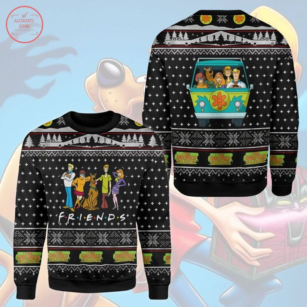 Friends Scooby Doo Ugly Christmas Sweater
