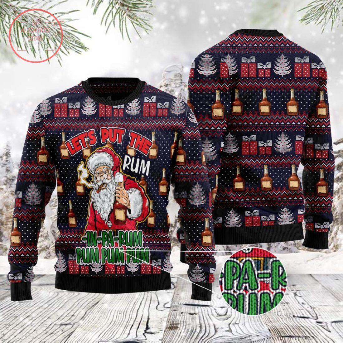 Gangster Santa Christmas Sweater