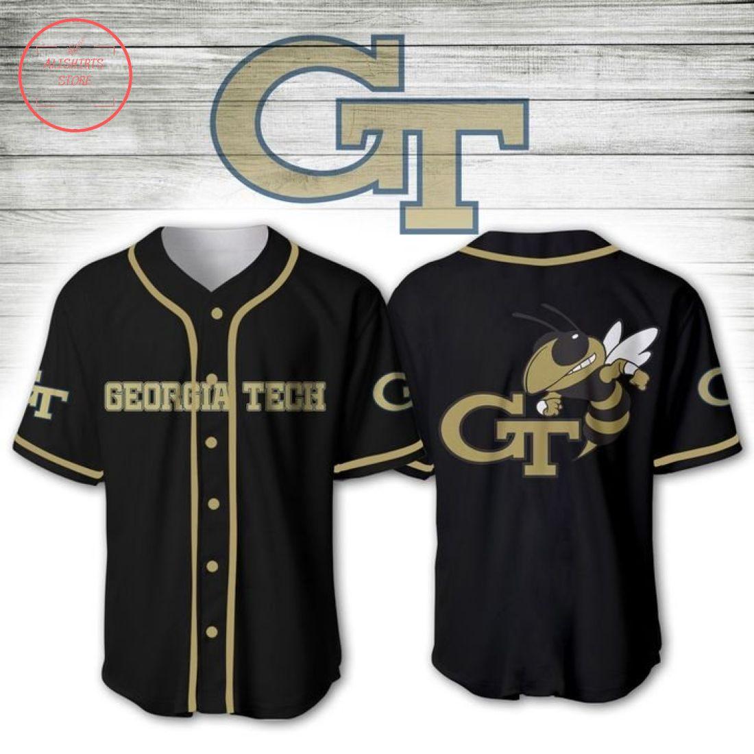 Georgia Tech Yellow Jackets NCAA Baseball Jersey