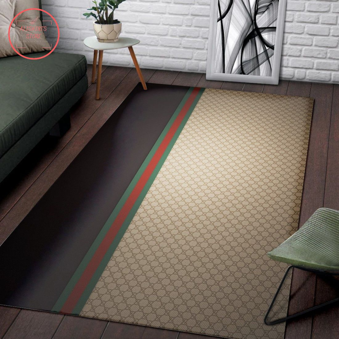 Gucci Inspired Rug Brown Hypebeast Living Room Carpet