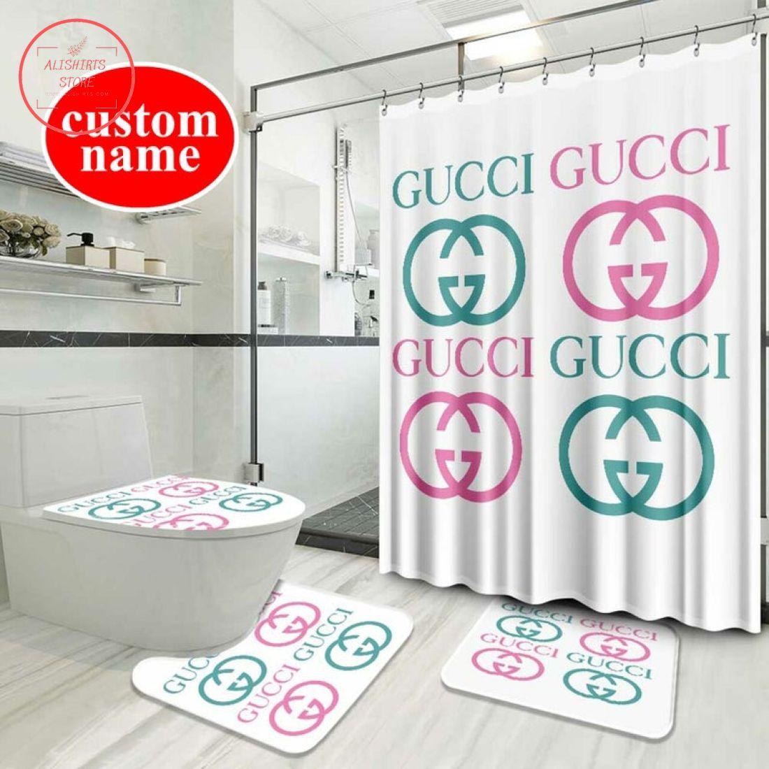 Gucci Waterproof Shower Curtain Window Curtain