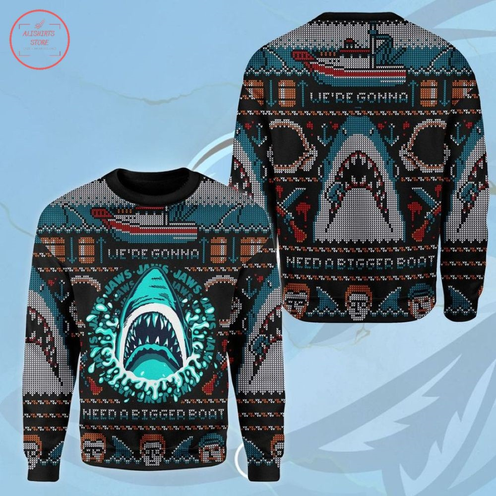 Horror Shark Ugly Christmas Sweater