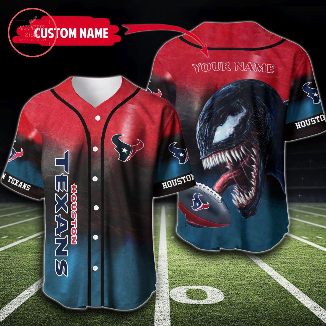 Houston Texans Personalized Name Baseball Jersey