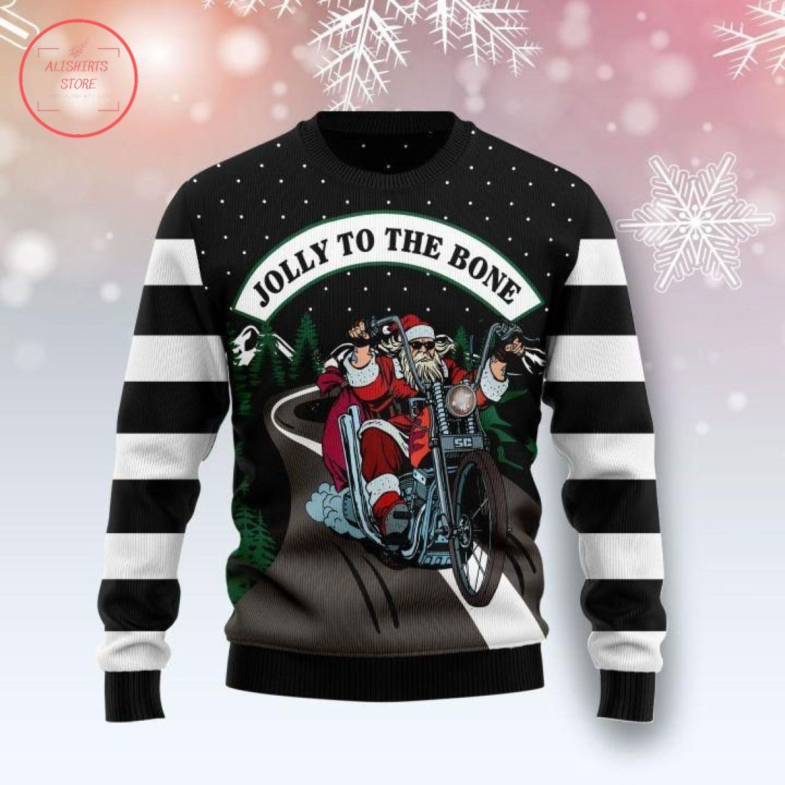 Jolly To The Bone Ugly Christmas Sweater
