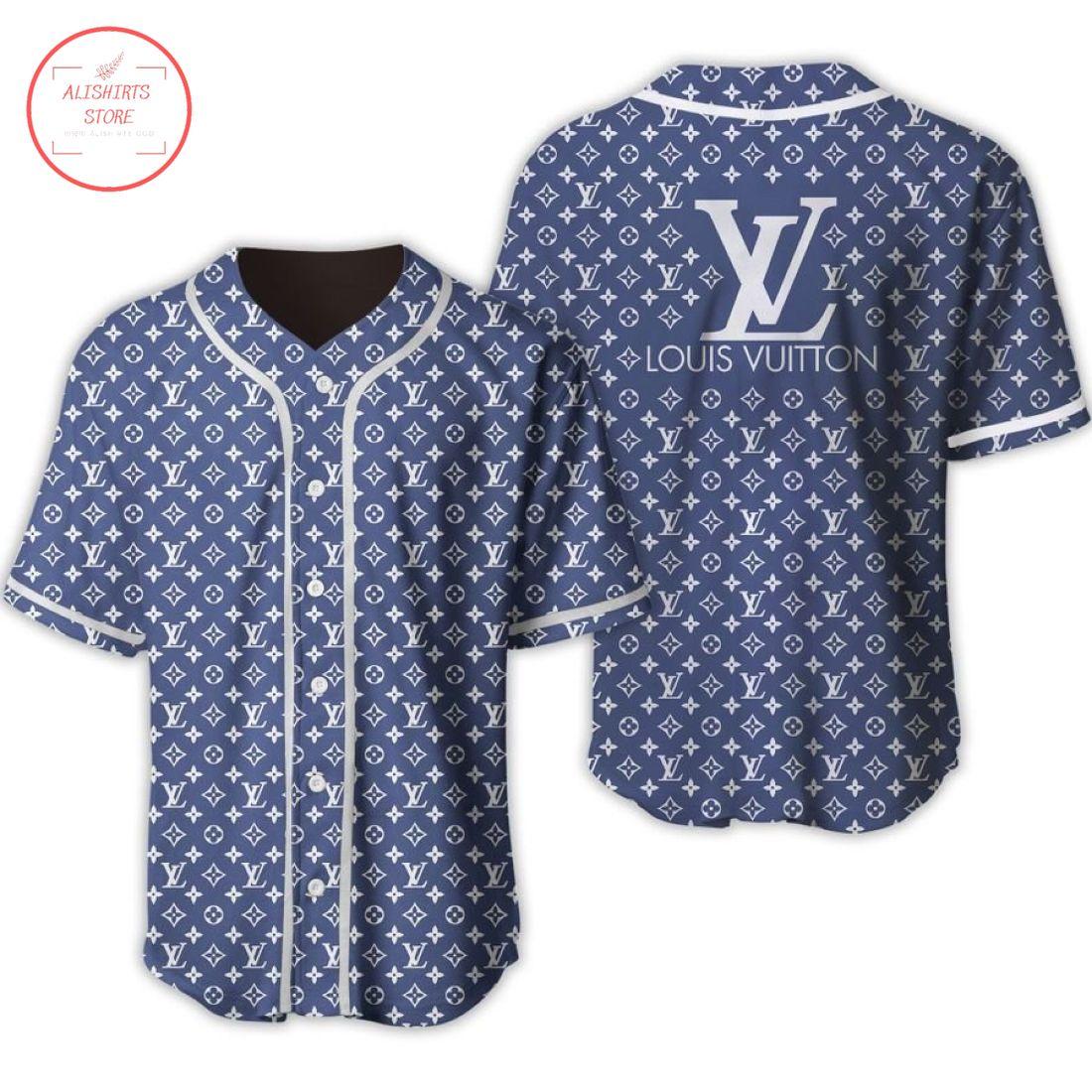 Louis Vuitton Luxury Brand Baseball Jersey