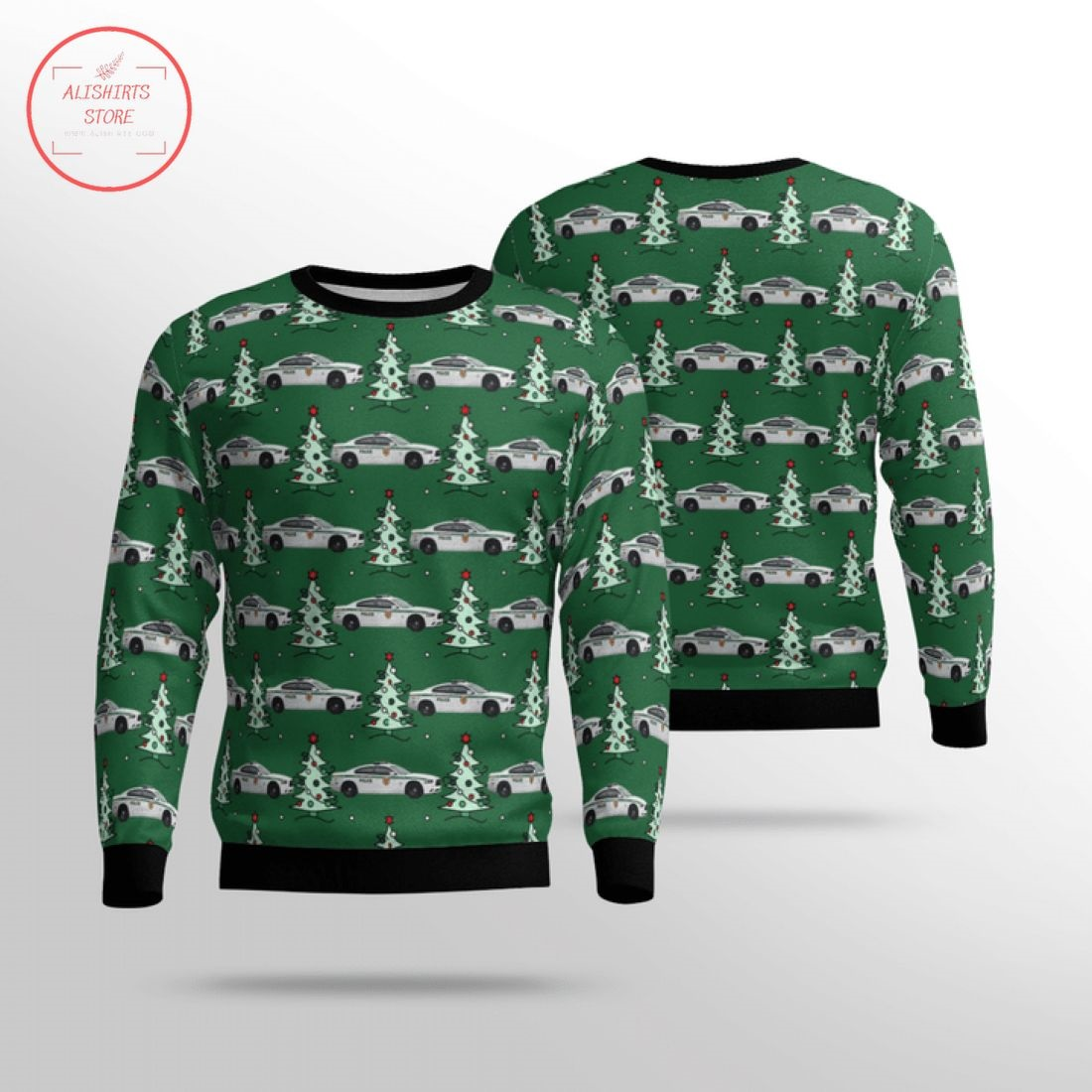 Miami Dade Police Department Ugly Christmas Sweater