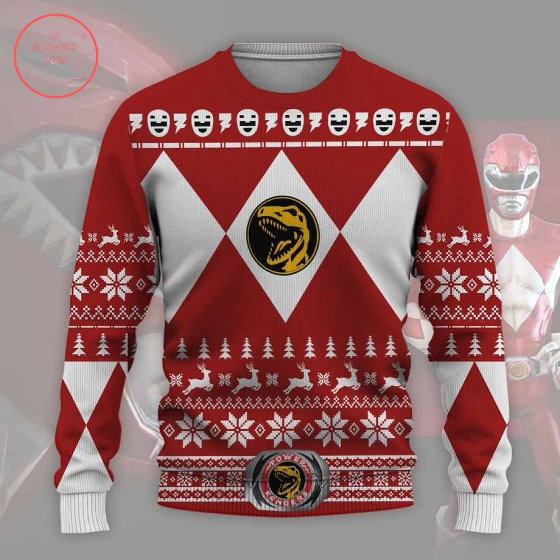 Mighty Morphin Power Rangers Ugly Christmas Sweater