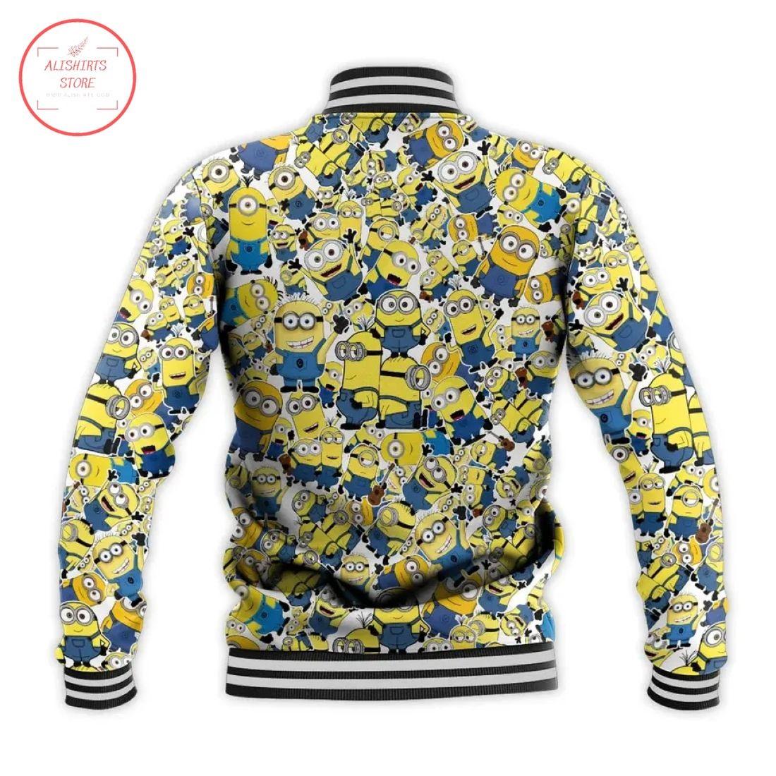 Minions Disney All Over Print Letterman Jacket