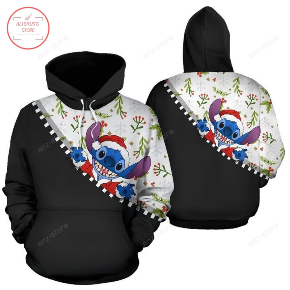 Santa Stich with Gift Christmas Hoodie