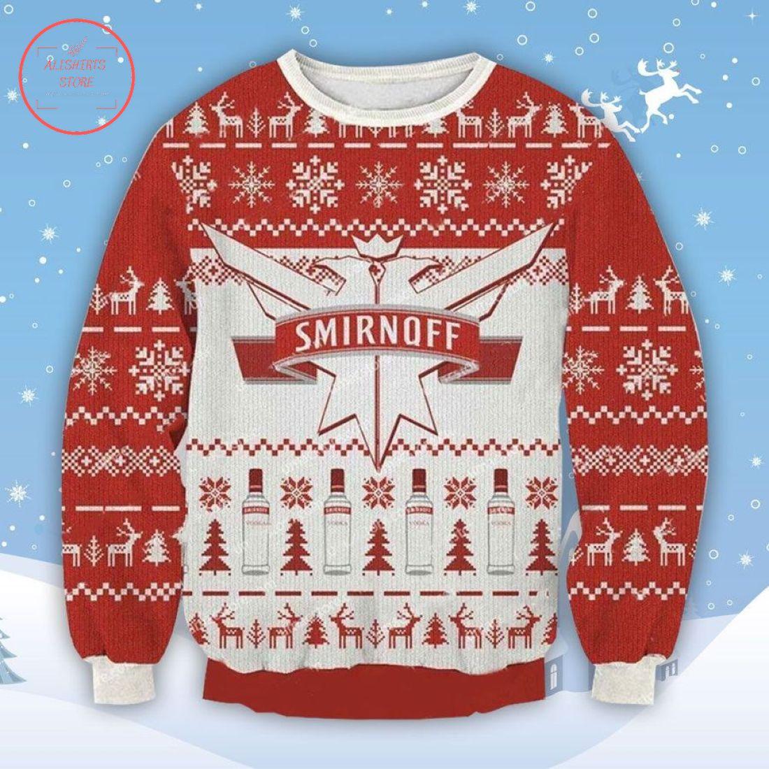 Smirnoff Vodka Ugly Christmas Sweater