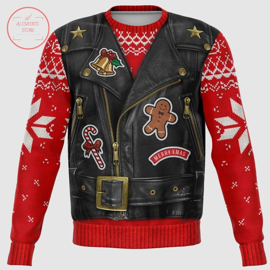 Sons of Santa North Pole Chapter Ugly Christmas Sweater