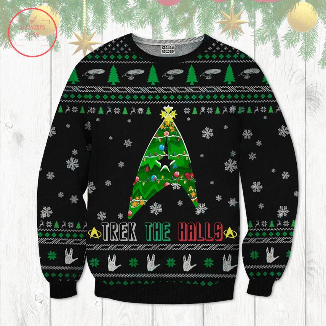 Trek The Halls Ugly Christmas Sweater
