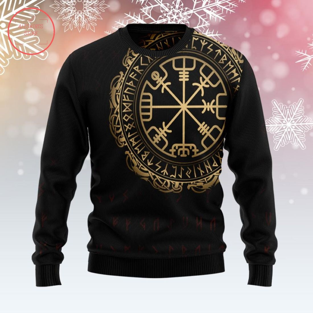 Viking Vegvisir Ugly Christmas Sweater