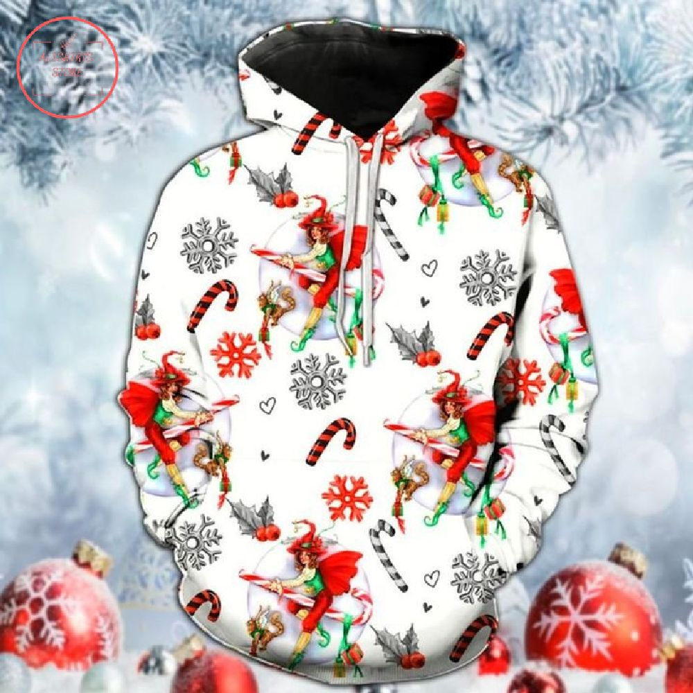 Witch Riding Candy Christmas Hoodie