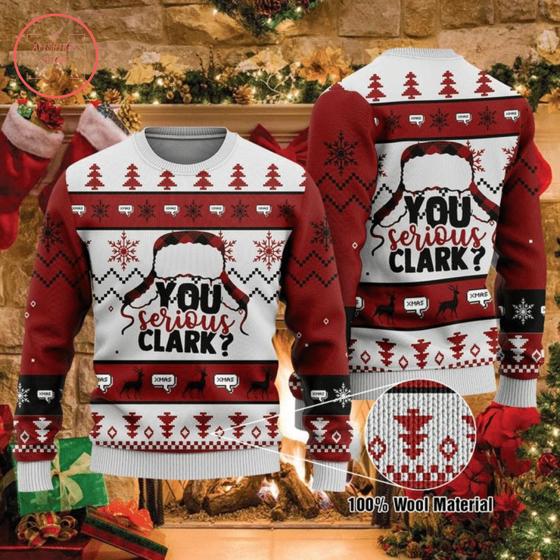 You Serious Clark Ugly Christmas Sweater