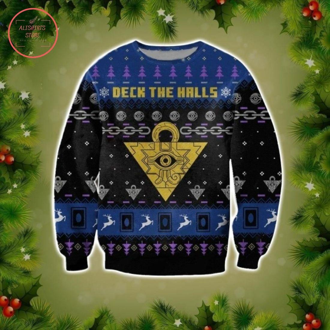 Yu-Gi-Oh Deck The Halls Ugly Christmas Sweater