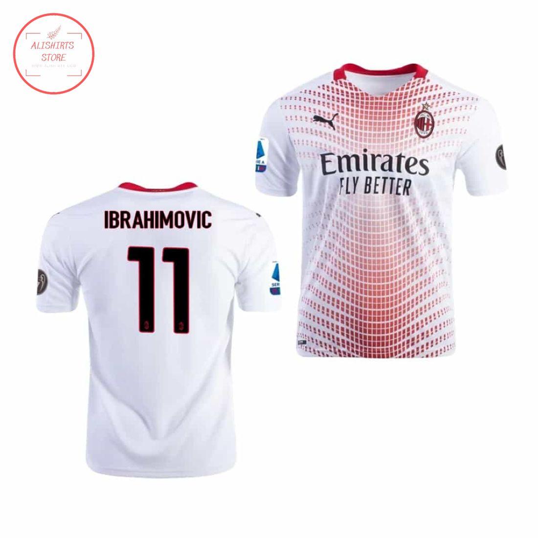 Zlatan Ibrahimovic Ac Milan Home Jersey Italian Cup 2021