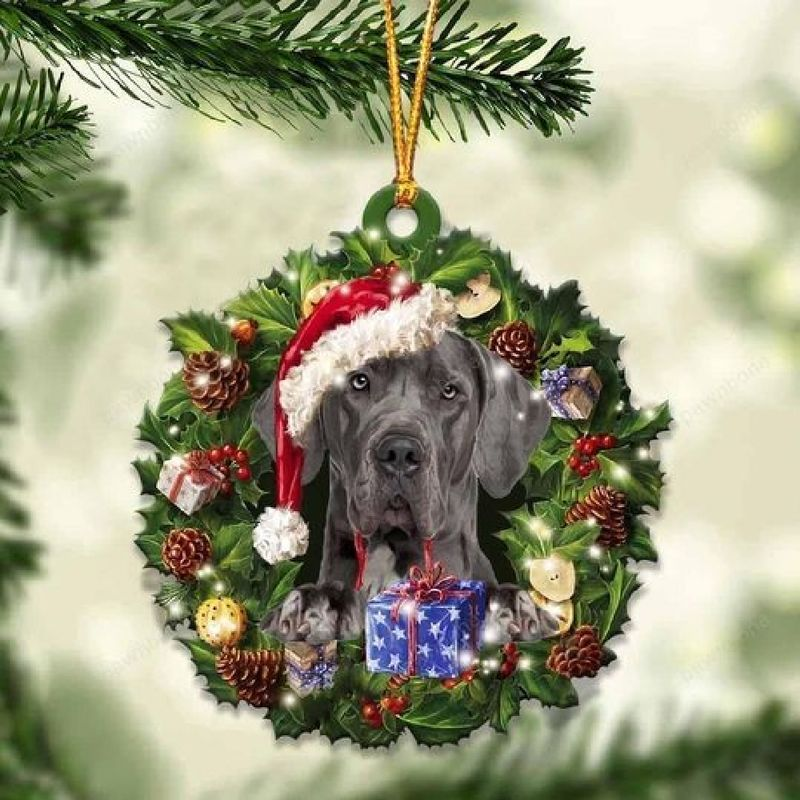 Great Dane Christmas Gift Ornament