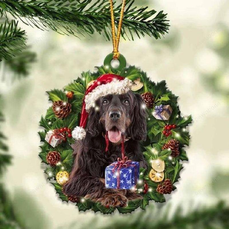 Gordon Setter Christmas Gift Acrylic Ornament