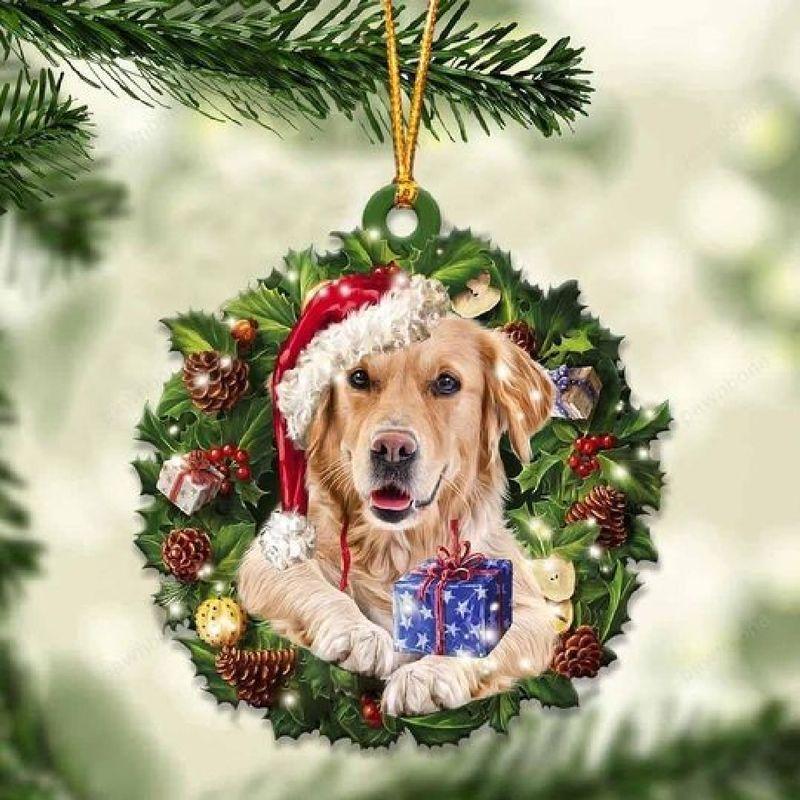 Golden Retriever Christmas Gift Ornament