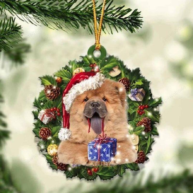Chow Chow Christmas Gift Acrylic Ornament