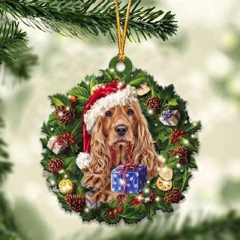 Cocker Spaniel Christmas Gift Acrylic Ornament