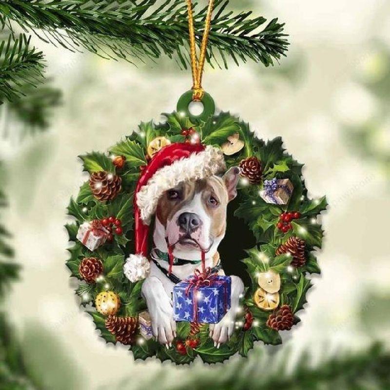Pitbull Christmas Gift Ornament