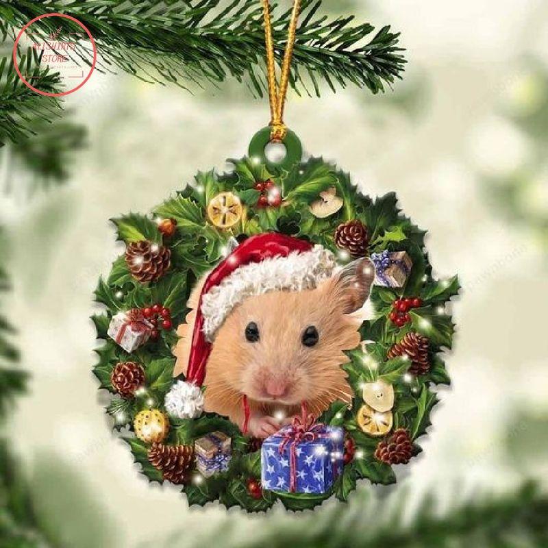 Hamster Christmas Gift Ornament