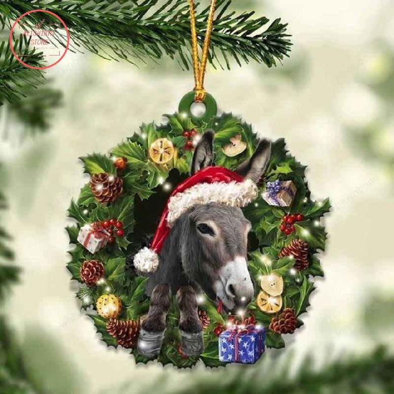 Donkey Christmas Gift Ornament