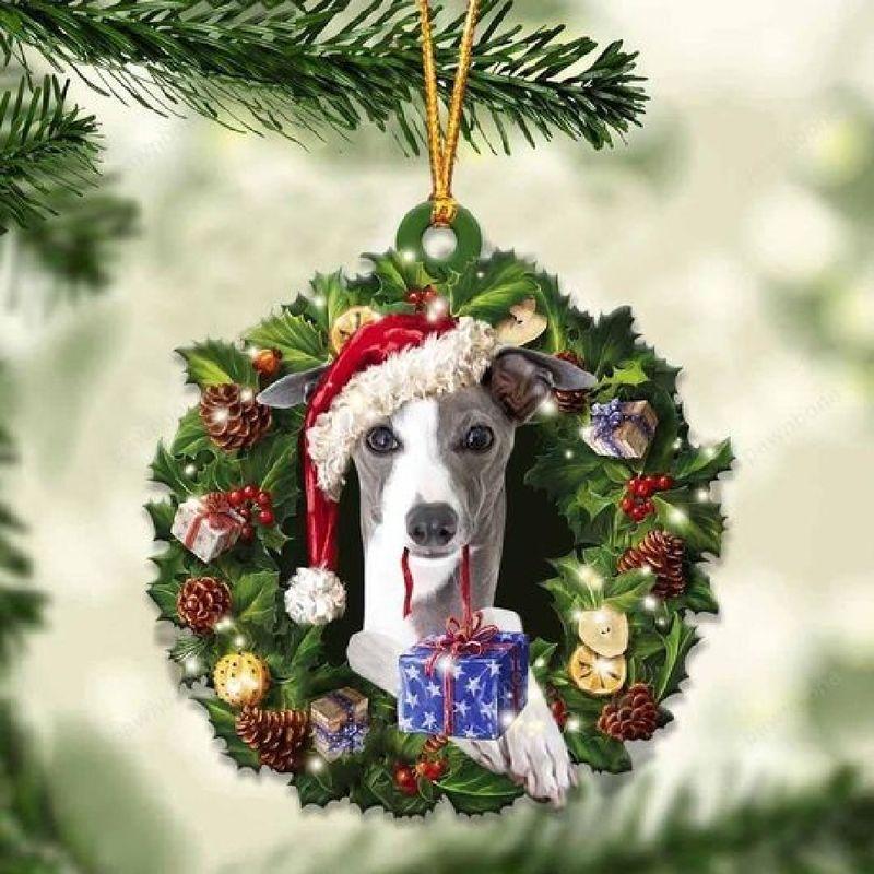 Greyhound Christmas Gift Ornament
