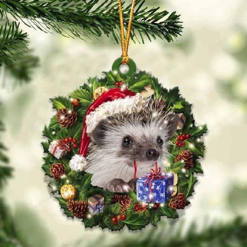 Hedgehog Christmas Gift Ornament