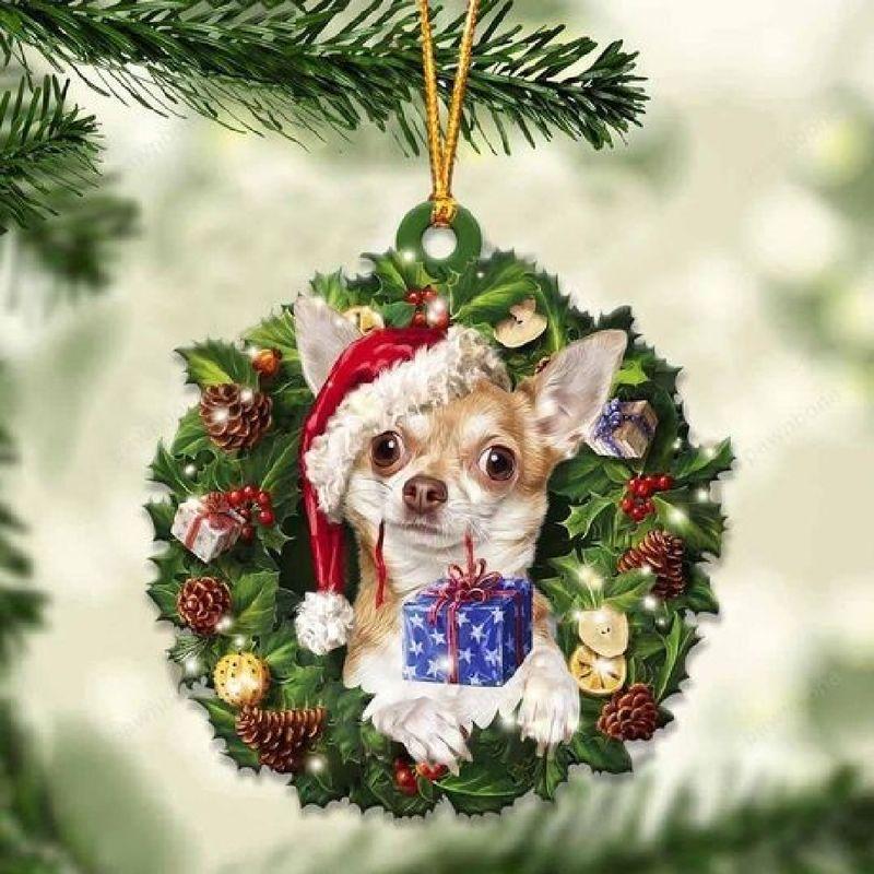 Chihuahua Christmas Gift Ornament