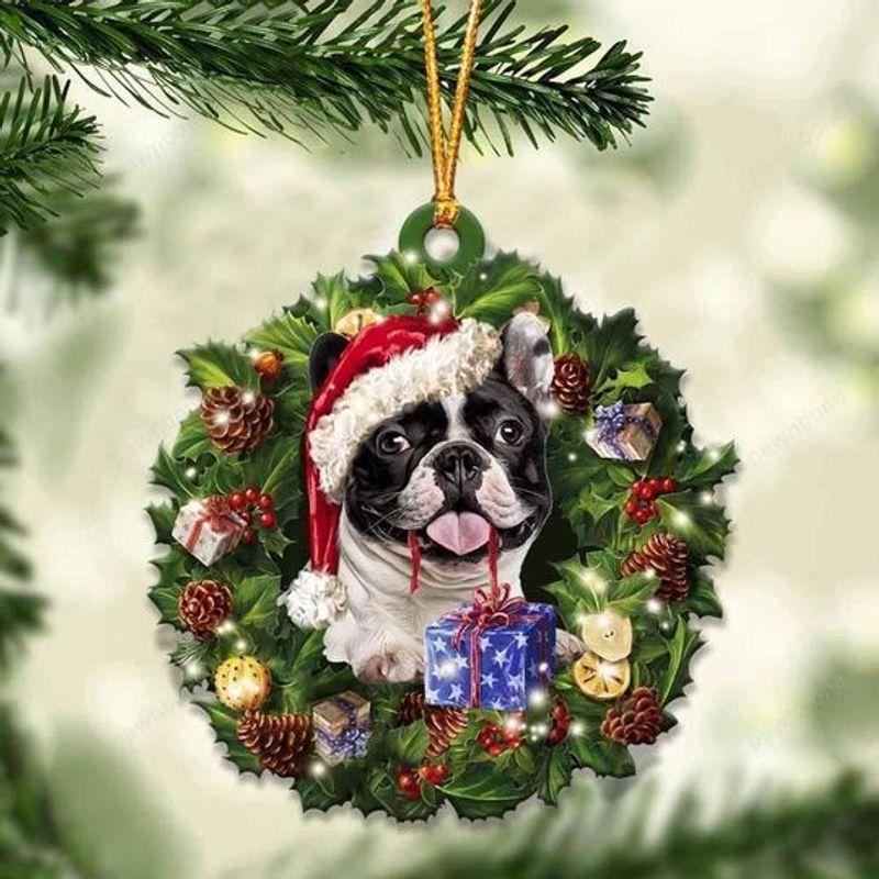French Bulldog Christmas Gift Acrylic Ornament