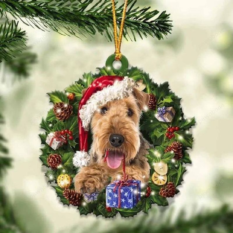 Airedale Terrier Christmas Gift Acrylic Ornament